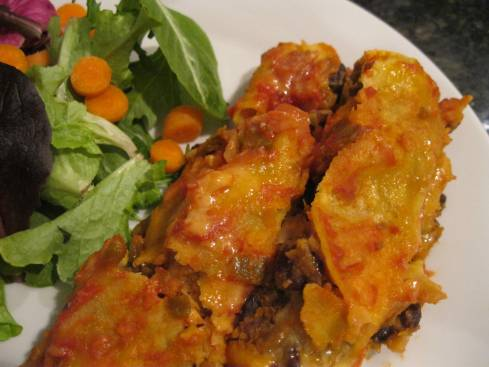 Sweet Potato and Black Bean Enchilada 003