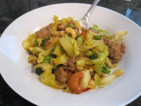 Oriental Pork and Cabbage Stir Fry 006